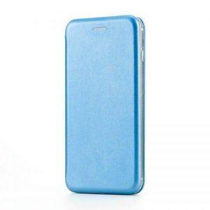 Кожаный чехол-книжка 360 с визитницей для Xiaomi Redmi 7A – Голубой