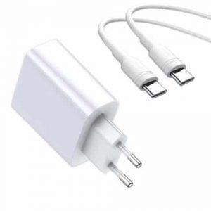 Сетевое зарядное устройство Baseus Speed PPS Quick Charge 3.0 + кабель Type-C to Type-C – White