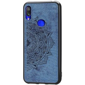 TPU+Textile чехол Mandala с 3D тиснением для  Samsung Galaxy A10s 2019 (A107) — Синий