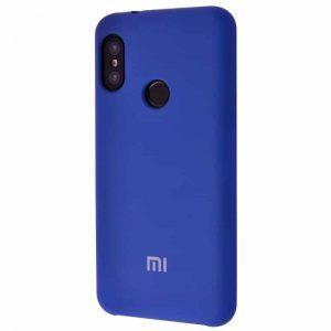 Оригинальный чехол Silicone Case с микрофиброй для Xiaomi Mi 8 SE – Blue