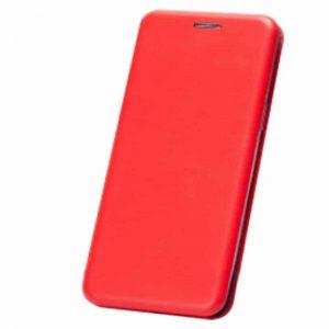 Кожаный чехол-книжка 360 с визитницей для Xiaomi Redmi 7A – Красный
