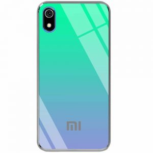 TPU+Glass чехол Gradient Rainbow с лого для Xiaomi Redmi 7A – Зеленый