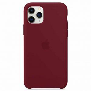 Оригинальный чехол Silicone case + HC для Iphone 11 Pro – Красный / Wine red