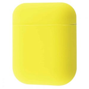 Чехол для наушников Silicone Case Slim New для Apple Airpods 2 – Уellow