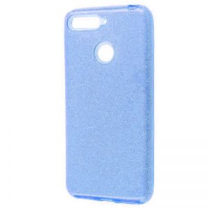 Cиликоновый (TPU+PC) чехол Shine с блестками для Xiaomi Mi 8 Lite / Mi 8 Youth (Mi 8X) – Голубой