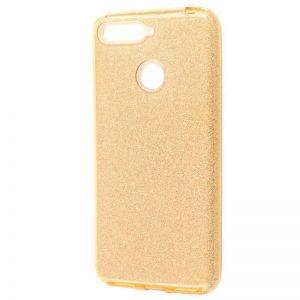 Cиликоновый (TPU+PC) чехол Shine с блестками для Xiaomi Mi 8 Lite / Mi 8 Youth (Mi 8X) – Золотой