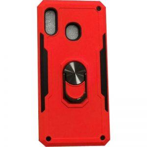Ударопрочный чехол SG Ring Color под магнитный держатель с кольцом для Huawei P Smart Z — Красный