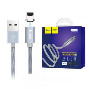 Кабель Hoco U40A Magnetic Abdsorption Lightning Cable- 2A (1m)- Metal Grey
