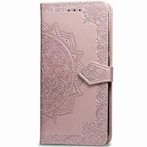 Кожаный чехол-книжка Art Case с визитницей для Xiaomi Mi A3 / CC9e – Розовый