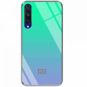 TPU+Glass чехол Gradient Rainbow с лого  для Xiaomi Mi 9 Lite / Mi CC9 – Зеленый