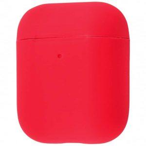 Чехол для наушников Silicone Case Slim для Apple Airpods 2 – Product red