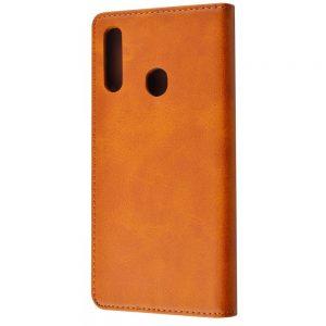 Чехол-книжка Black TPU Magnet для Samsung Galaxy A20s 2019 (A207) – Brown