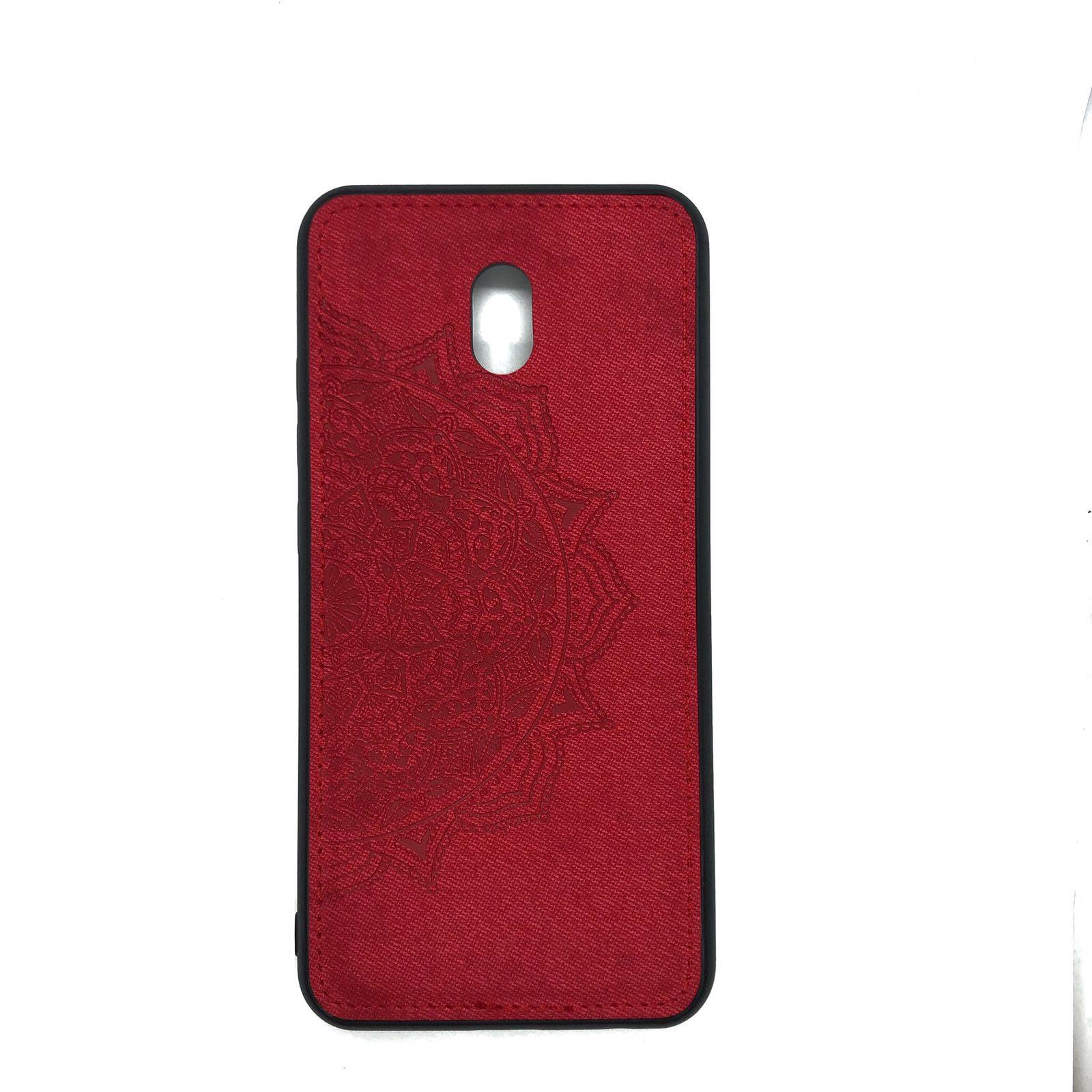 TPU+Textile чехол Mandala с 3D тиснением для Xiaomi Redmi 8A — Красный