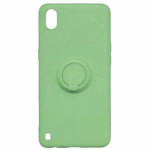 Cиликоновый чехол c кольцом и микрофиброй для Samsung Galaxy A10 2019 (A105) / M10 – Green