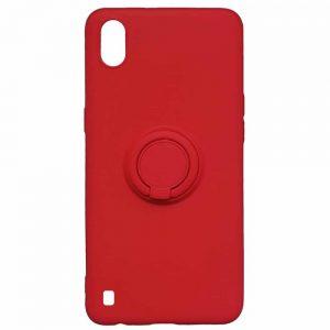 Cиликоновый чехол c кольцом и микрофиброй для Samsung Galaxy A10 2019 (A105) / M10 – Red