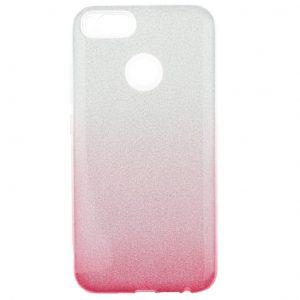 Cиликоновый (TPU) чехол Gradient Shine с блестками для Xiaomi Mi 5x / Mi A1- Розовый