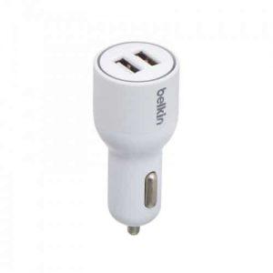 Автомобильное зарядное устройство Belkin car charger (2USB / 4.2A) – White