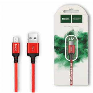 Кабель Hoco X14 USB to MicroUSB (1м) – Red