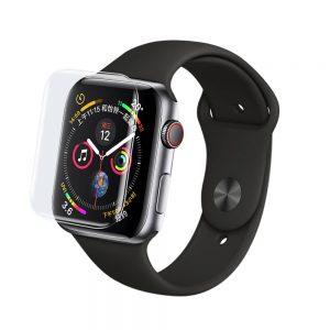 Защитное стекло 3D / 5D UV Full Glue с УФ клеем для Apple Watch 40 mm / SE 40 mm – Clear