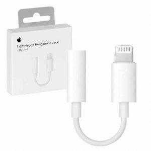 Оригинальный адаптер Apple Lightning – 3.5mm MMX62ZM/A – White
