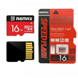 Карта памяти Remax Micro SD 16GB Class HC-I 10 – Black / Red