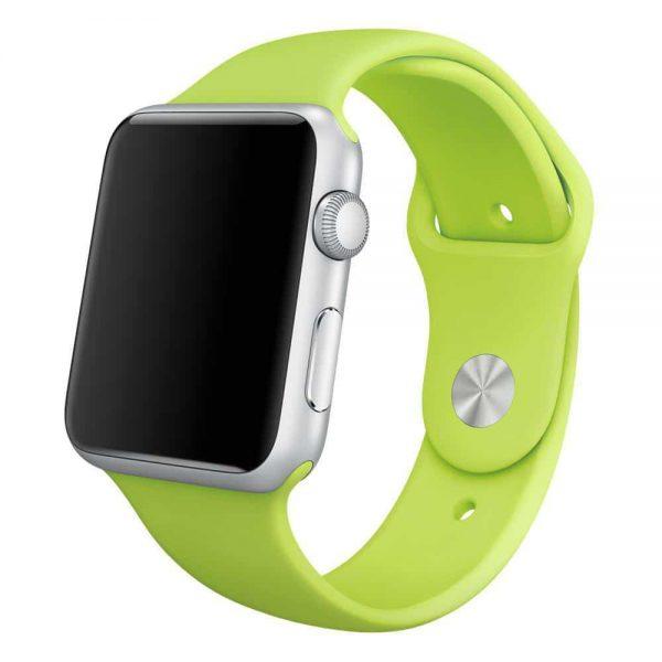 Ремешок силиконовый для Apple Watch 38 mm / 40 mm / SE 40 mm №10 – Light Green