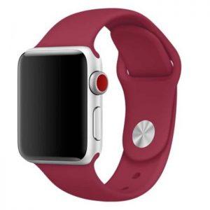 Ремешок силиконовый для Apple Watch 38 mm / 40 mm №4 – Rose Red
