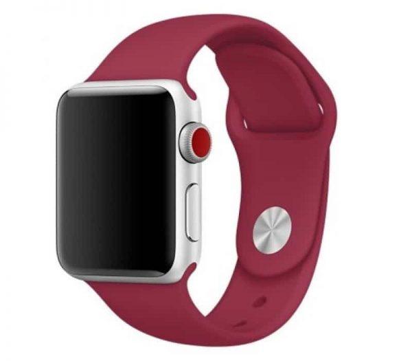 Ремешок силиконовый для Apple Watch 42 mm / 44 mm №4 – Rose Red