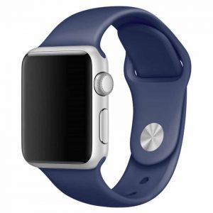 Ремешок силиконовый для Apple Watch 42 mm / 44 mm №9 – Midnight Blue