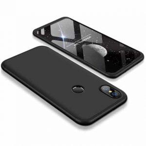 Матовый пластиковый чехол GKK 360 градусов для Xiaomi Mi Mix 2S -Черный