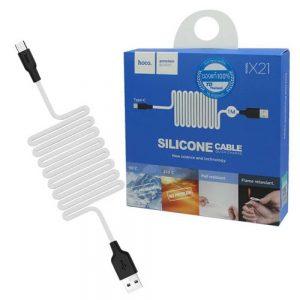 Кабель Hoco X21 plus Silicone Type -C 2A (1м)- Black / White