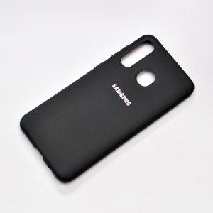 Оригинальный чехол Silicone Cover 360 с микрофиброй для Samsung Galaxy A20s 2019 (A207) – Black