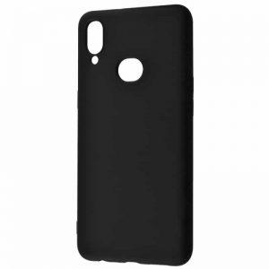 Чехол Silicone Case WAVE Full с микрофиброй для Samsung Galaxy A10s 2019 (A107) — Black