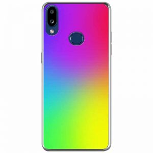 TPU+Glass чехол Gradient Rainbow без лого для Samsung Galaxy A10s 2019 (A107) — Радуга