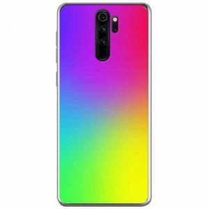TPU+Glass чехол Gradient Rainbow без лого для Xiaomi Redmi Note 8 Pro – Радуга