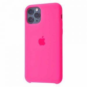 Оригинальный чехол Silicone case + HC для Iphone 11 Pro Max №47 – Bright pink