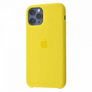 Оригинальный чехол Silicone case + HC для Iphone 11 Pro Max – Canary yellow