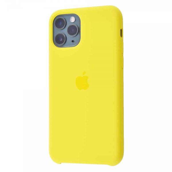 Оригинальный чехол Silicone case + HC для Iphone 11 Pro №13 – Yellow