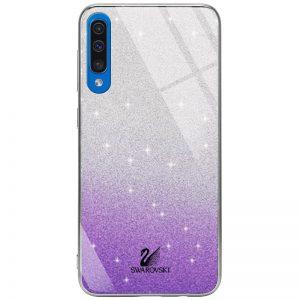 Чехол с блестками Swarovski TPU+Glass для Samsung Galaxy A50 / A30s 2019 – Фиолетовый