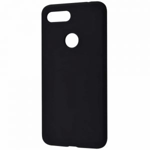 Чехол Silicone Case WAVE Full с микрофиброй для Xiaomi Mi 8 Lite / Mi 8 Youth (Mi 8X) – Black