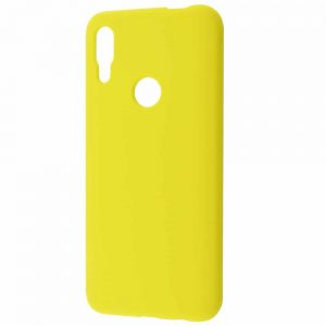 Чехол Silicone Case WAVE Full с микрофиброй для Huawei P Smart Z – Yellow