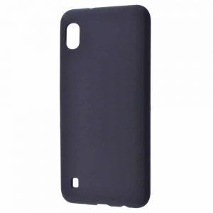 Чехол Silicone Case WAVE Full с микрофиброй для Samsung Galaxy A10 2019 (A105) – Black