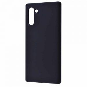 Чехол Silicone Case WAVE Full с микрофиброй для Samsung Galaxy Note 10 (N970) – Black