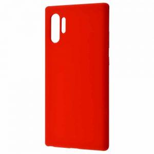 Чехол Silicone Case WAVE Full с микрофиброй для Samsung Galaxy Note 10 Plus (N975) – Red