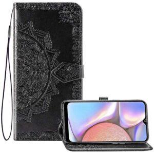 Кожаный чехол-книжка Art Case с визитницей для Xiaomi Redmi 8A – Черный