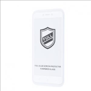 Защитное стекло 3D (5D) Perfect Glass Full Glue на весь экран для Xiaomi Redmi 4x  – White