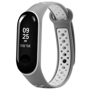Ремешок для фитнес-браслета Xiaomi Mi Band 3 / 4 Sport – Gray / White
