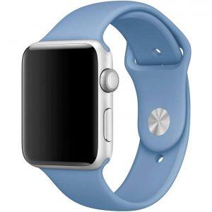 Ремешок силиконовый для Apple Watch 42 mm / 44 mm / SE 44 mm №36 – Azure