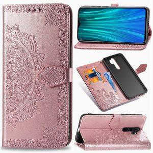 Кожаный чехол-книжка Art Case с визитницей для Xiaomi Redmi Note 8 Pro – Розовый