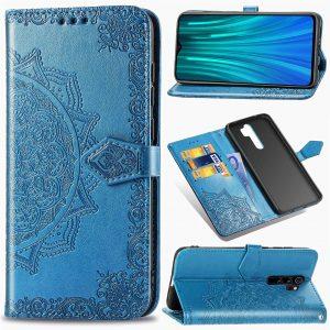 Кожаный чехол-книжка Art Case с визитницей для Xiaomi Redmi Note 8 Pro – Синий